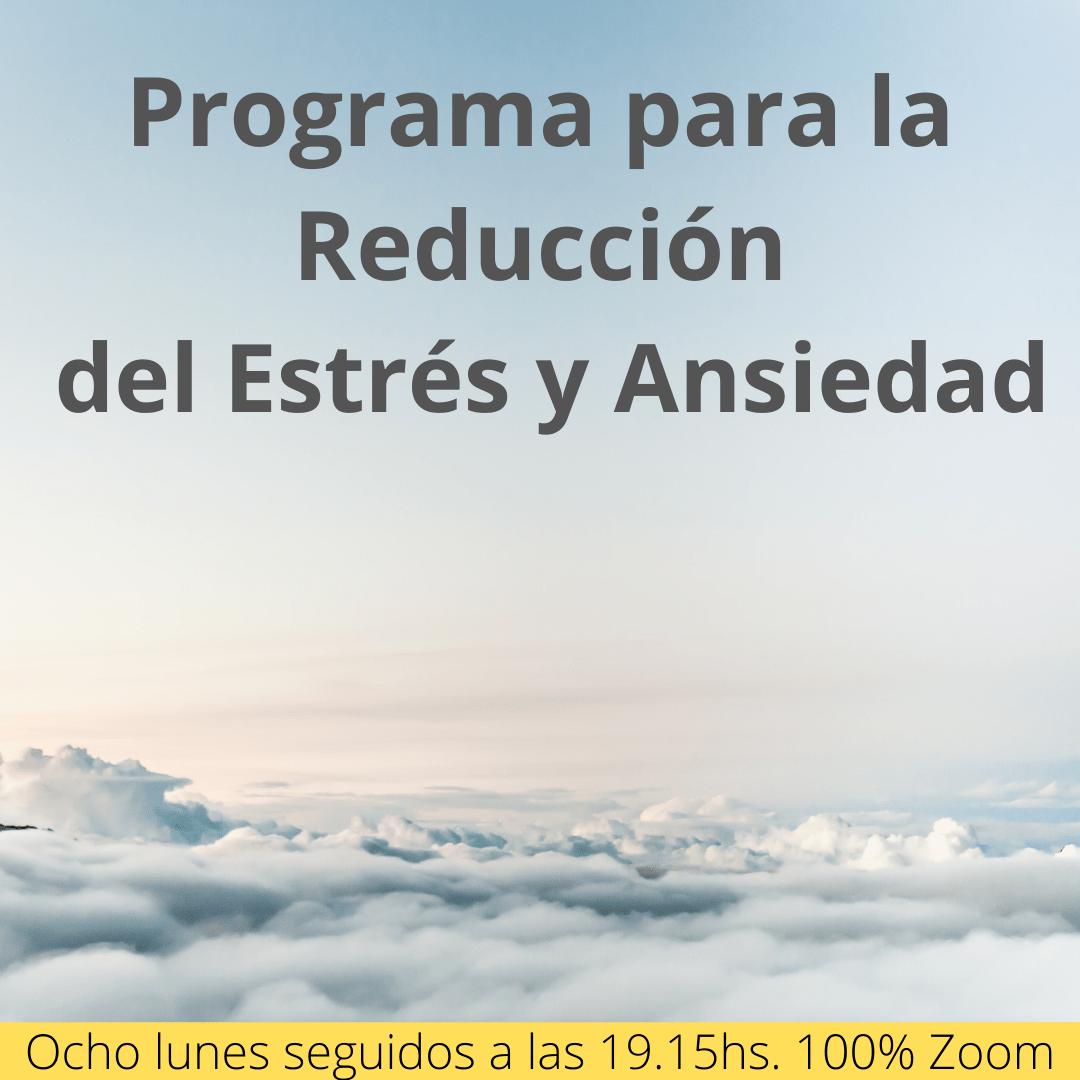Programa de Reducción del Estrés y Ansiedad basado en Mindfulness de 8 semanas.