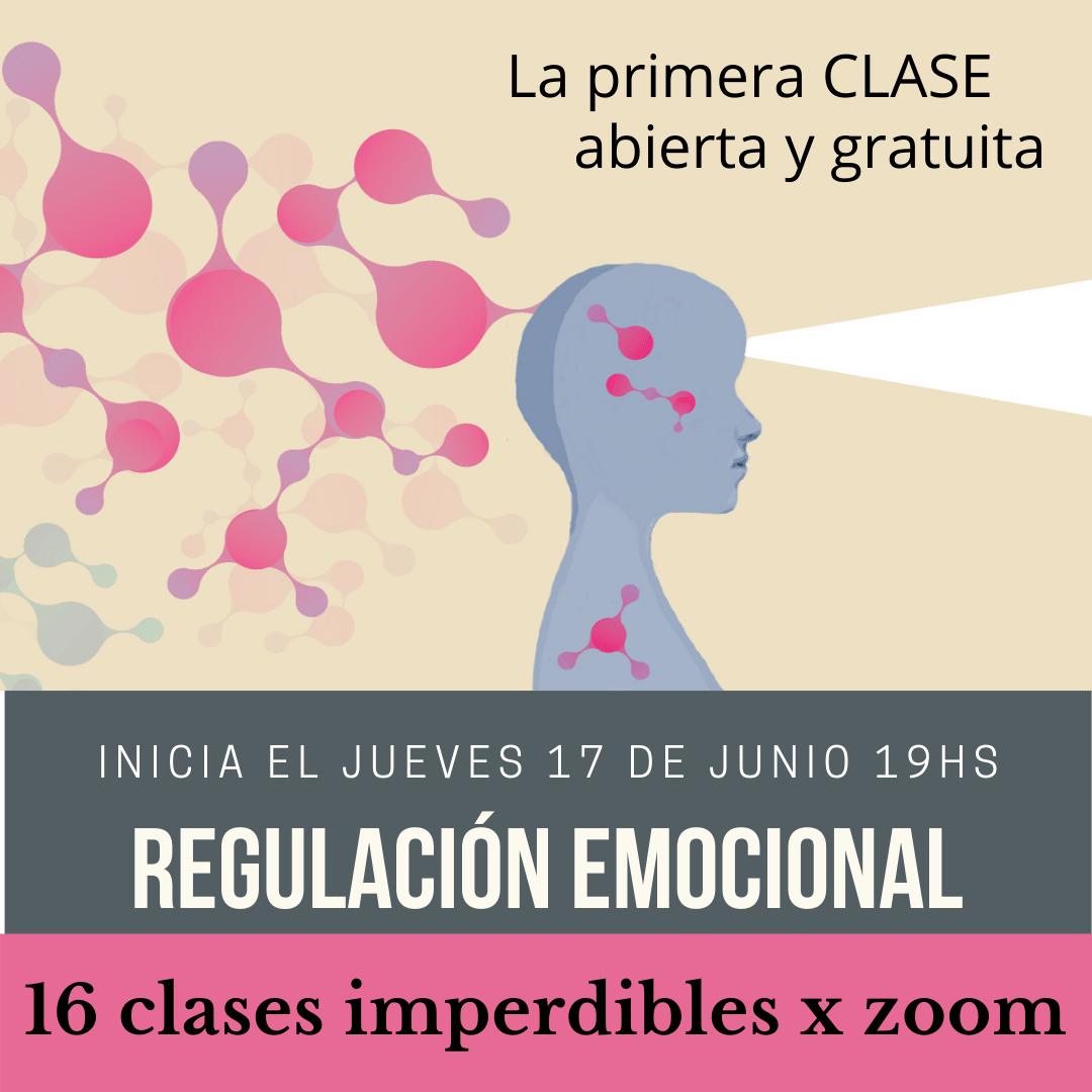 Aprende a REGULAR EMOCIONES con mindfulness x zoom. Desde el jueves 17 de junio de 2021: lunes y jueves de 19 a 20:20hs. (grabamos todas las clases)