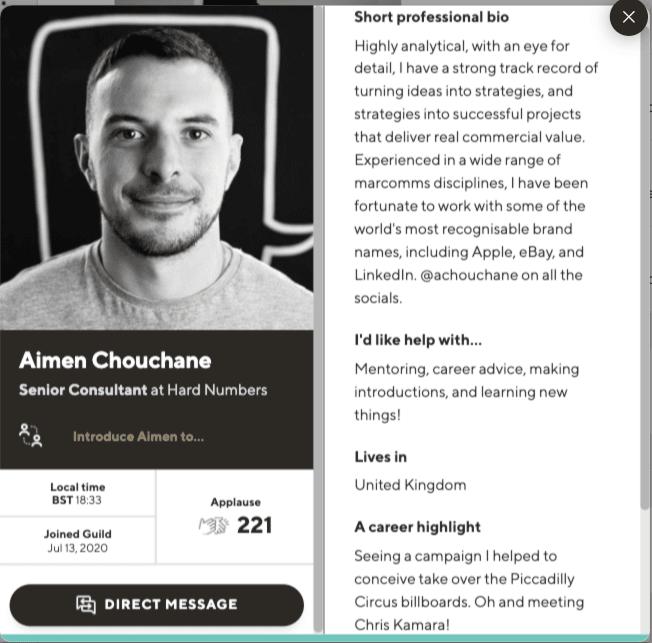 Aimen Chouchane profile on Guild