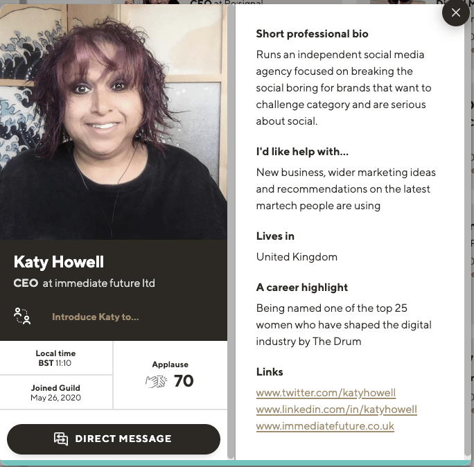 Katy Howell profile on Guild