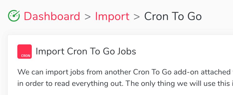 Import Jobs