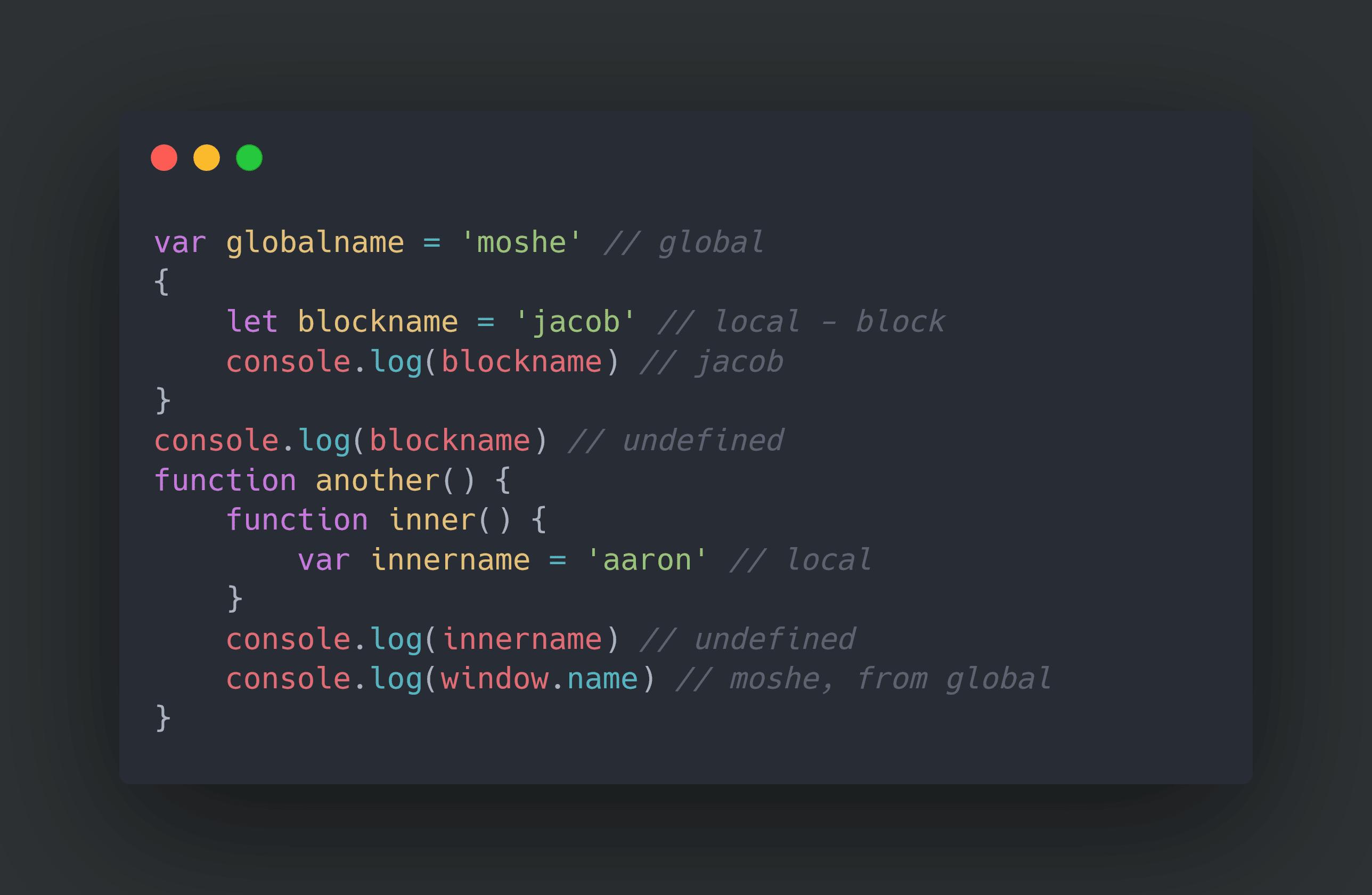 מושגים בסיסיים ב-JS: סְקוֹפּ Scope