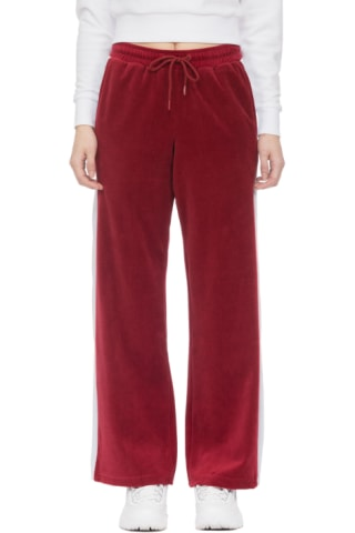 e2ca9b68a1e9 Fila - Bonnie Velour Flair Pant - Riot Red/White