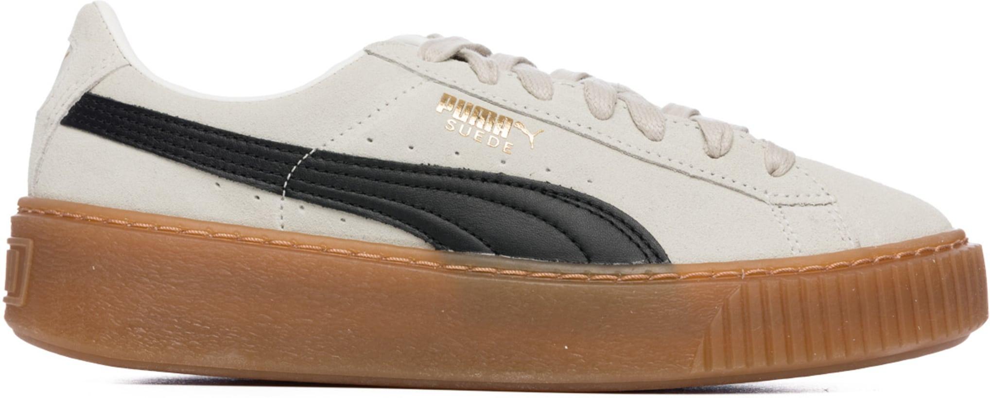 d710a3500423 Puma: Suede Platform Core - Whisper White/Puma Black   influenceu