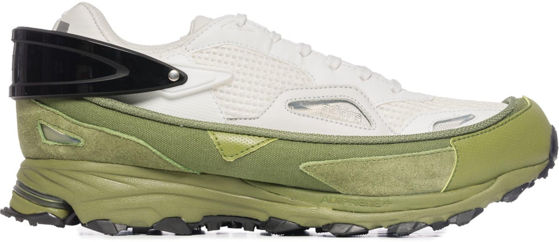 79e3fb47585a76 adidas by Raf Simons: Response Trail Sneakers - White/Black/Green ...