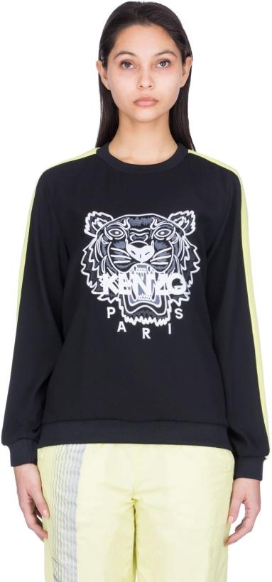 6c785f7e Kenzo: Crepe Tiger Pullover - Black   influenceu