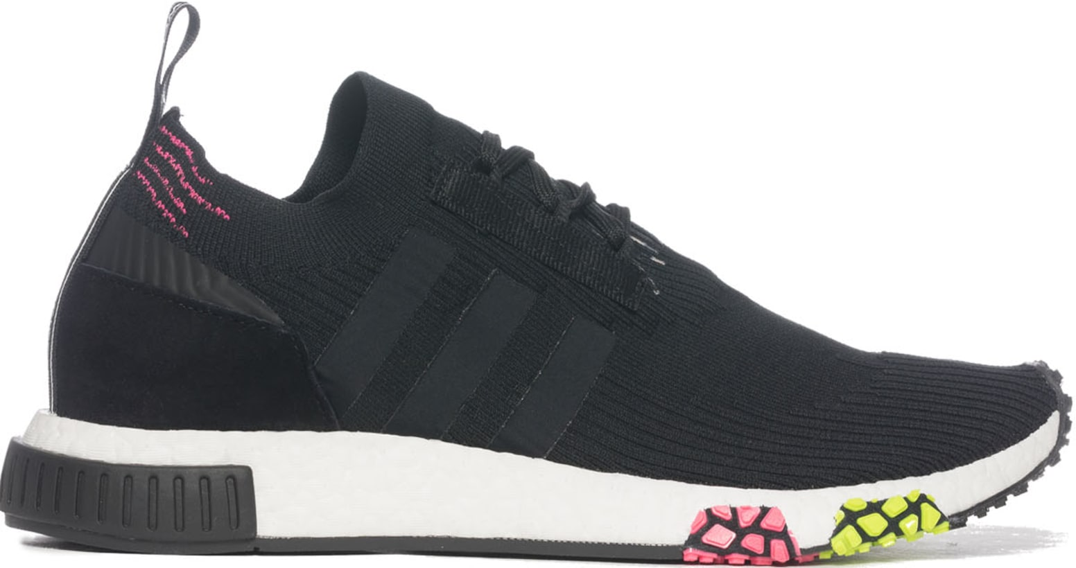 f37dfe642be6 adidas Originals. NMD Racer Primeknit - Core Black Footwear White Solar Pink