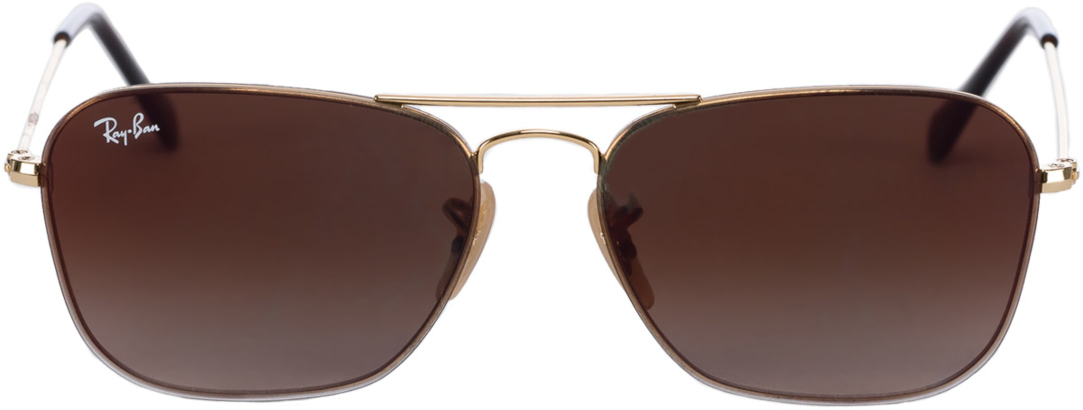 b54c7ab614 Ray-Ban. Square Gradient Mirror Sunglasses - Gold Brown Gradient Mirror