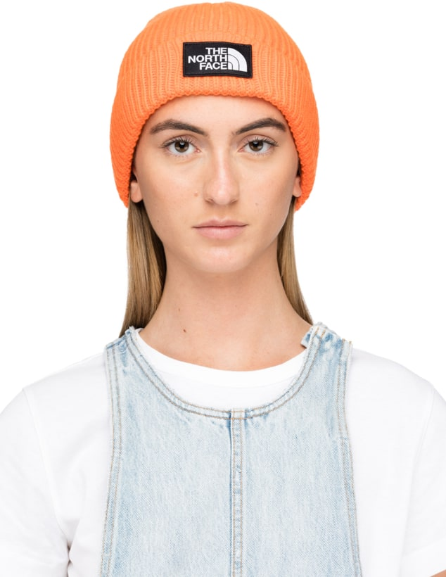 the North Face  Logo Box Cuffed Beanie - Persian Orange  a25c8e09907a