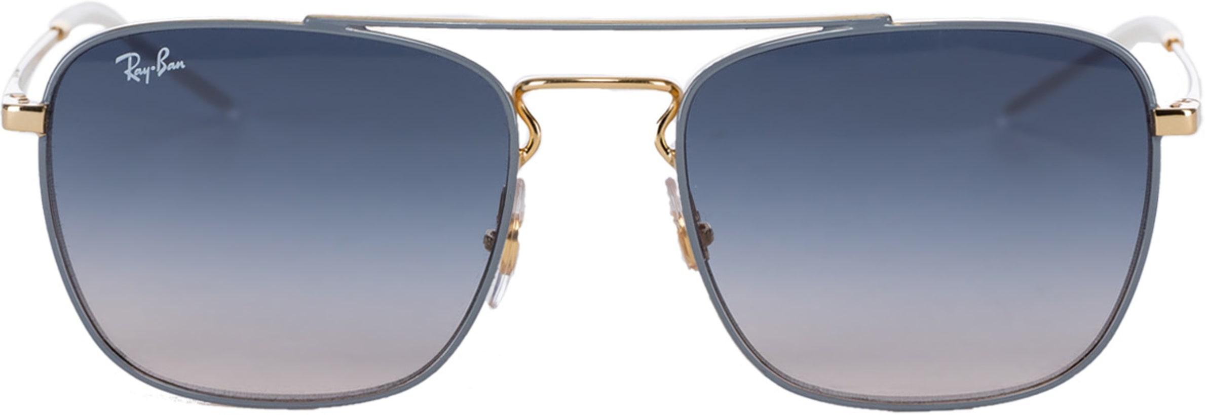 0442777b5d50 Ray-Ban: Square Gradient Sunglasses - Light Grey Gold/Blue Gradient ...