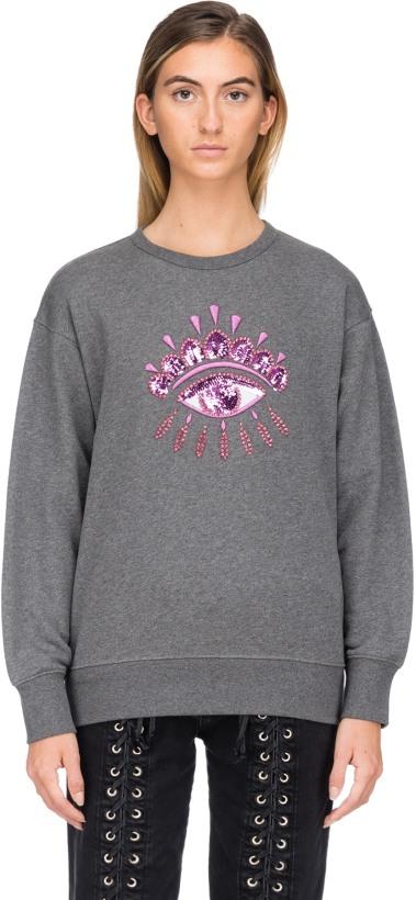 337fb28e Kenzo: Eye Sequinned Pullover - Dark Grey | influenceu
