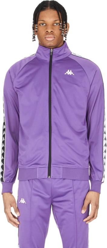 6e4e2536e6 Kappa - 222 Banda Anniston Slim Track Jacket - Violet/Black/White