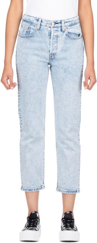 057e93e08f6 Levis: 501 Original Cropped Jeans - Stone Throw | influenceu