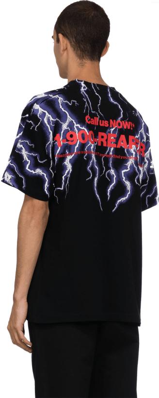 2be4d453 Alexander Wang: Lightning Collage Short Sleeve T-Shirt - Black/White/Purple  | influenceu