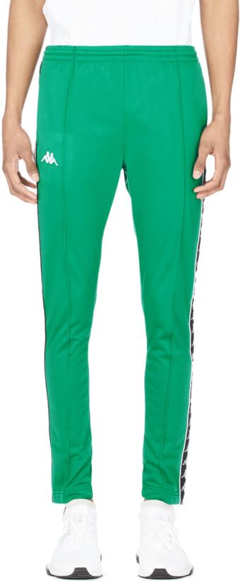 387abe0eef9da2 Kappa  222 Banda Astoria Slim Snap Track Pants - Green Black White ...