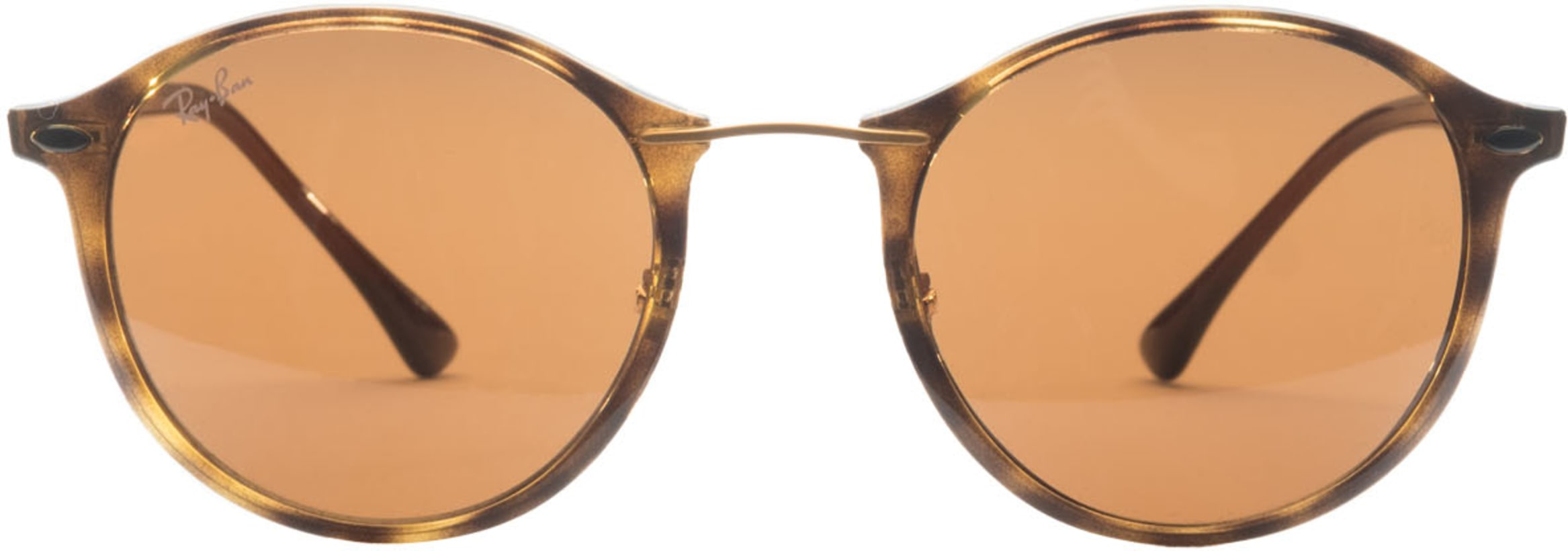 38748d16a Ray-Ban: Round Light Ray Sunglasses - Tortoise/Brown/Brown | influenceu