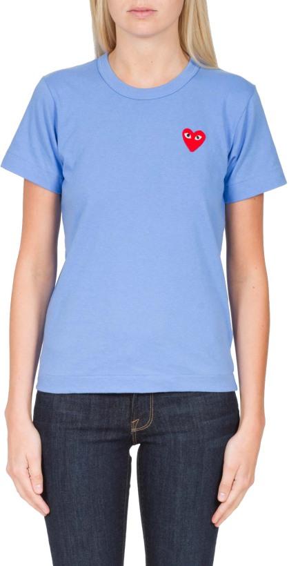 bbd3ccd6f054c8 Comme des Garçons Play  Red Heart Color Series T-Shirt - Blue ...