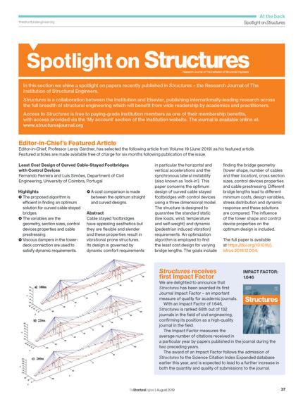 Spotlight on Structures (August 2019) - The Institution of