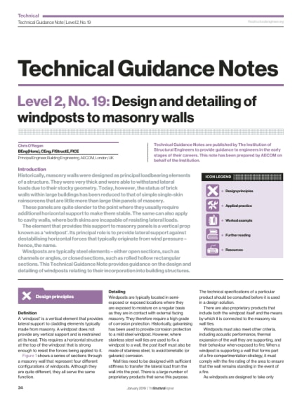 Technical Guidance Note (Level 2, No  19): Design and detailing of