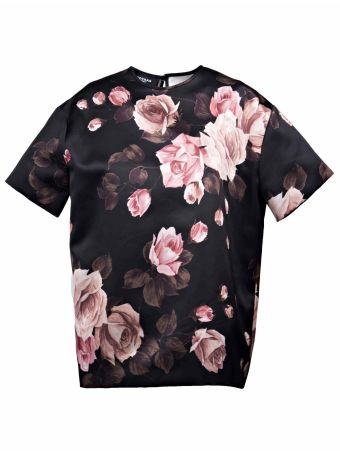 Rochas Rose Print Blouse