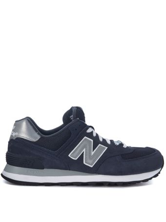 Sneaker New Balance 574 In Suede And Blue Navy Mesh Fabric