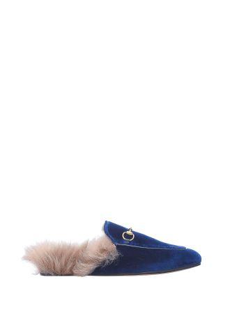 Gucci Princetown Blue Velvet Slipper