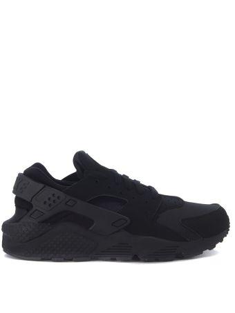 Sneaker Nike Air Huarache In Tessuto Nero Ecopelle Nero