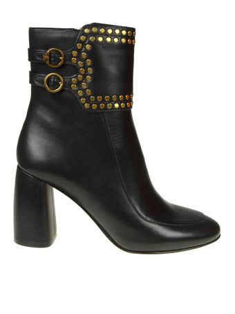 Tory Burch Tronchetto Holden Black Leather