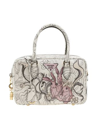 Prada Bauletto Printed Rubbit Tote