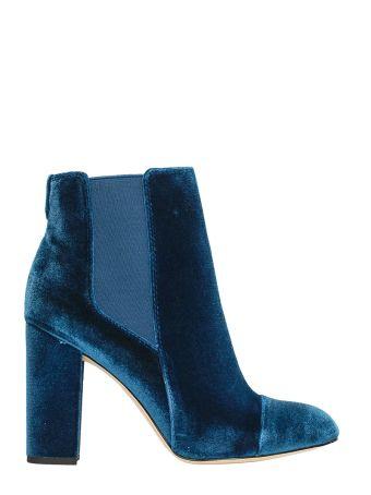 Sam Edelman Case Blue Velvet Bootie