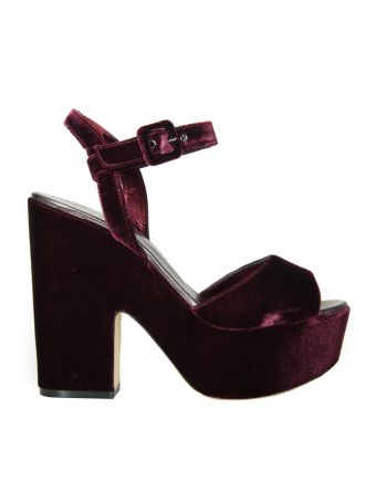 Le Silla Purple Velvet Sandals