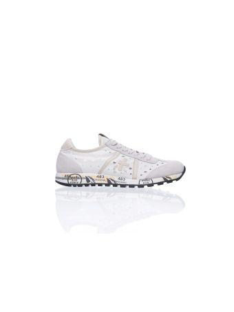 Premiata Perforated White Sneakers