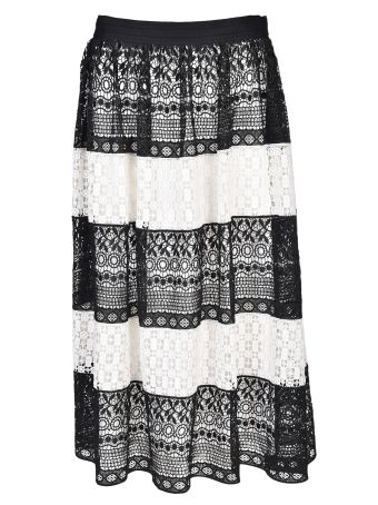 Alice + Olivia Birdie Crochet Skirt