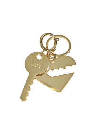Key And Heart Keyring