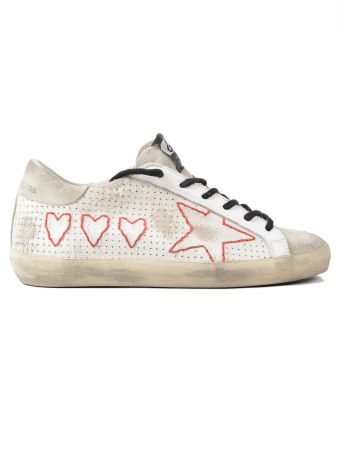 Golden Goose Sneakers Superstar Hearts And Star