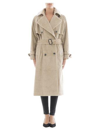 Beige Corduroy Coat