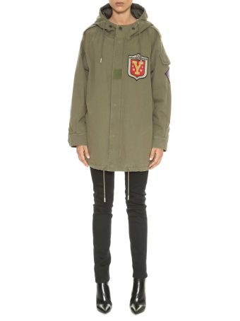 Saint Laurent Parka Con Patch