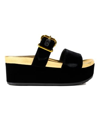 Prada Velluto Sandal 40mm