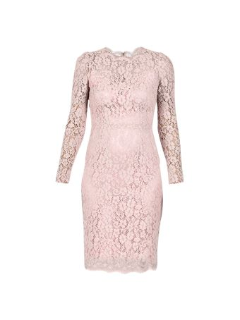 Dolce & Gabbana Lace Pink Dress