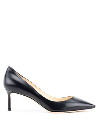 Romy 60 Black Mid-heel Pumps