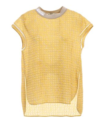 Fendi Pop Grisaille Cloque Top