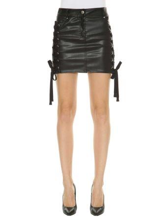 Versus Fake Leather Mini Skirt