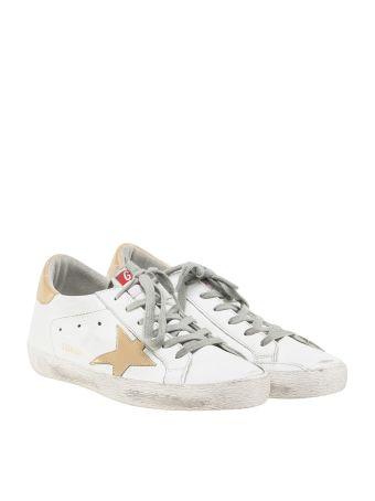 Golden Goose Deluxe Brand White Gold Superstar Sneakers