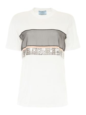 Jersey T-shirt With Metallic Mail