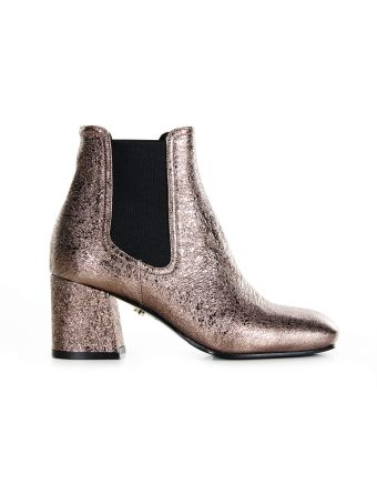 Le Silla Metallic Rocher Ankle Boots