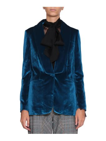 self-portrait Velvet Jacket