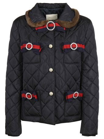 Gucci Web Quilted Jacket