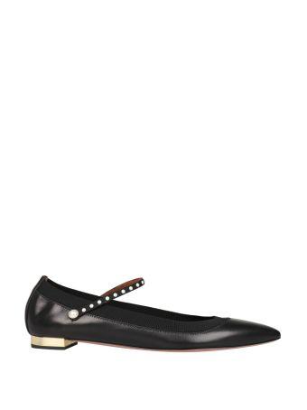 Aquazzura Nolita Embellished Leather Flats