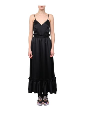 MSGM Satin Ruffled Dress