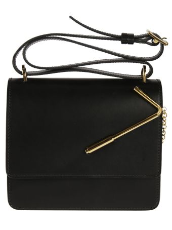 Sophie Hulme Straw Detail Shoulder Bag